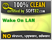 Soft82 100% Clean Award For Wake On LAN